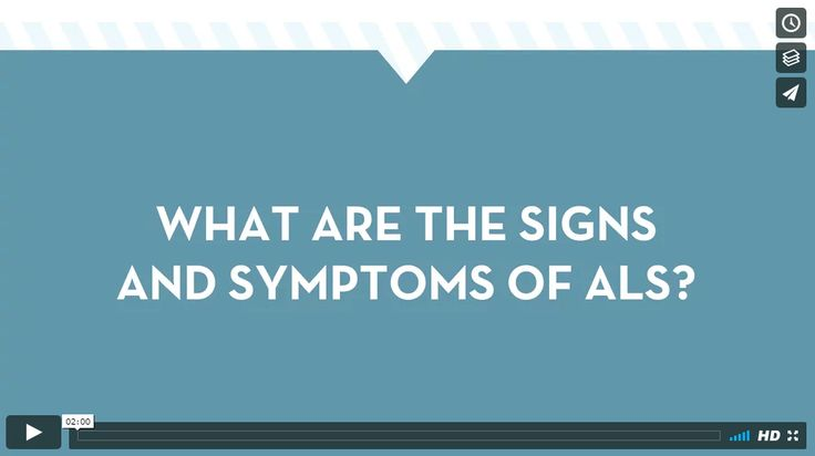 What are the signs and symptoms of ALS?