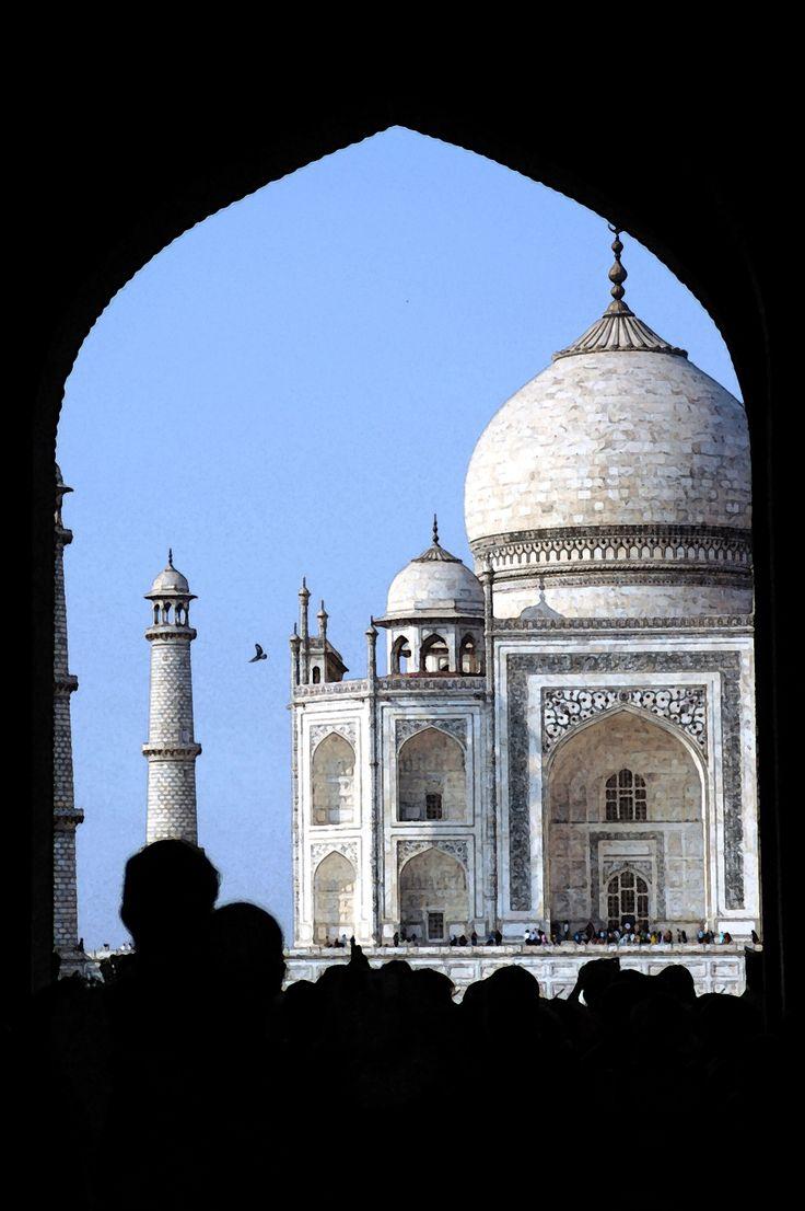 Entering the Taj