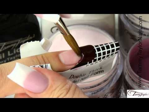 ♡ Tammy Taylor 3 Nail Demos-Negative Space-Color French-Matte-Prizma Acrylic - YouTube