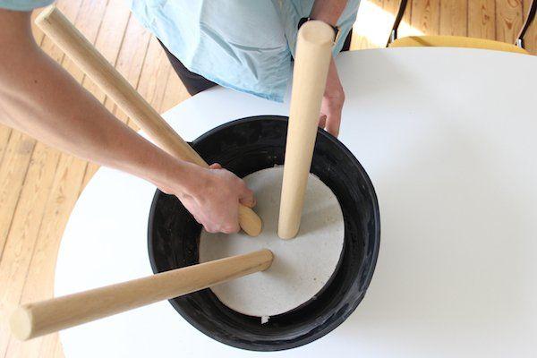 DIY Tabouret beton et bois