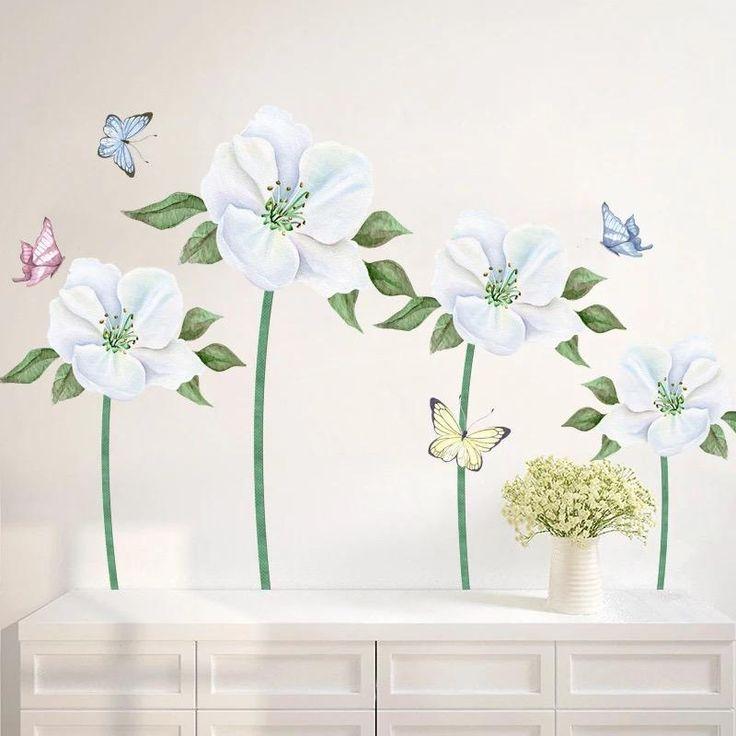 vintage floral wall decals urban walls - 736×736