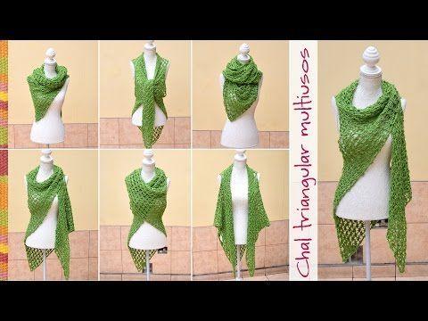 Divertida bufanda infinita de dos puntadas diferentes con flecos tejida en dos agujas o palitos - YouTube