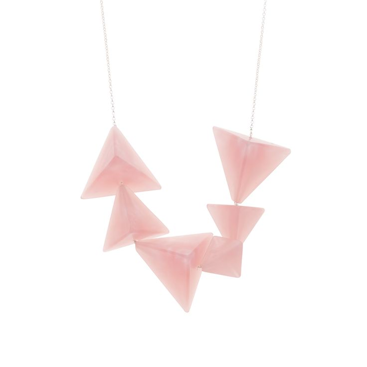 Buy the Pink Luxe Pyramid Necklace at Oliver Bonas. Enjoy free worldwide standard delivery for orders over £50.