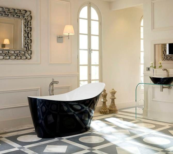 Things Modenus loves -  the new glossy, black and gorgeous finish from Victoria and Albert Baths