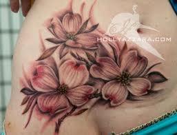 Dogwood tattoo idea...I want all black/white