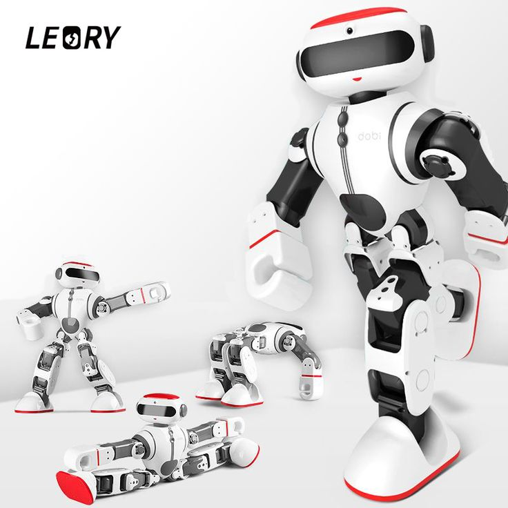 LEORY Voice Control Robot Intelligent Humanoid App Control RC DIY Robot Voice Recognition Toys For Children <font><b>Kids</b></font> Gifts Present
