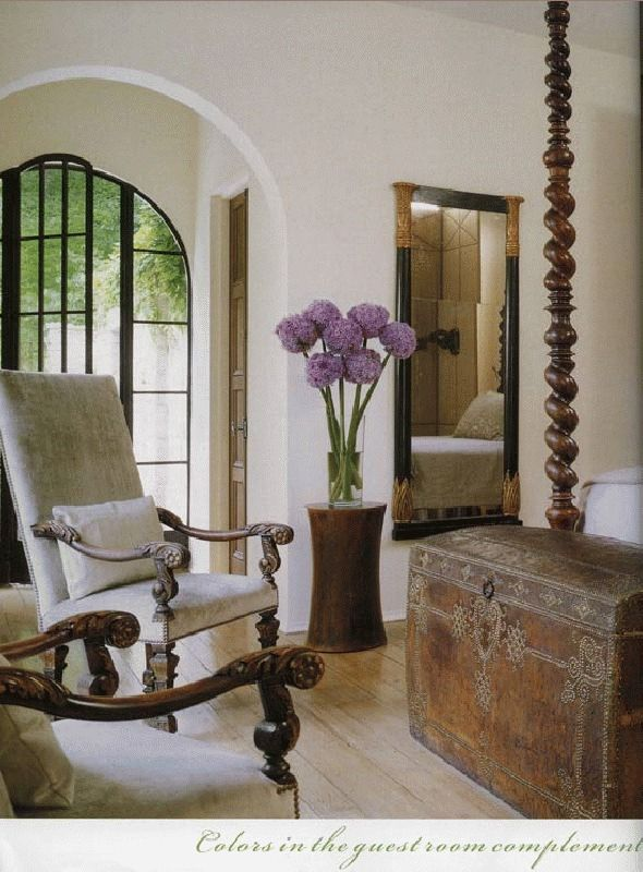 ultimate spanish colonial transitional bedroom