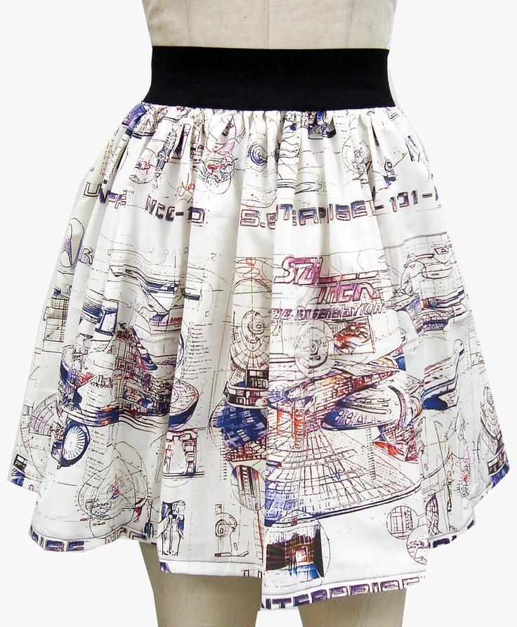 I love this skirt!! Star Trek Enterprise Draft Full Skirt by GoChaseRabbits