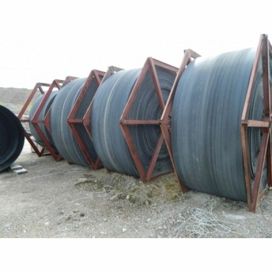 Belt Width: 54 inch. Path Length: 2,384 ft C-C of Pulleys. True Belt Speed: 813 FPM (actual), 820 nominal. Rock Bulk Density: 108 lb/ft3. Operation hrs/day: 16. Nominal Max Rock Feed Size: 7...