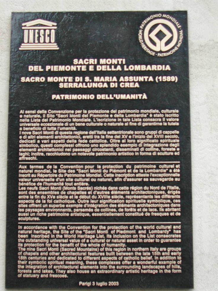 <I>Sacri Monti</I> of Piedmont and Lombardy