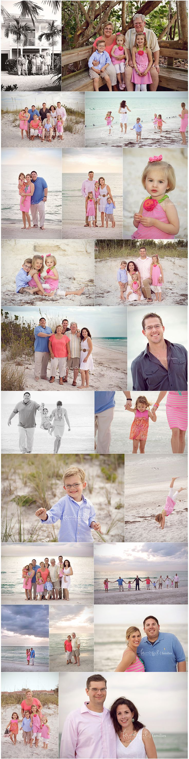 Pinks look pretty at the beach.  All denim and white with some pink or other bright color?