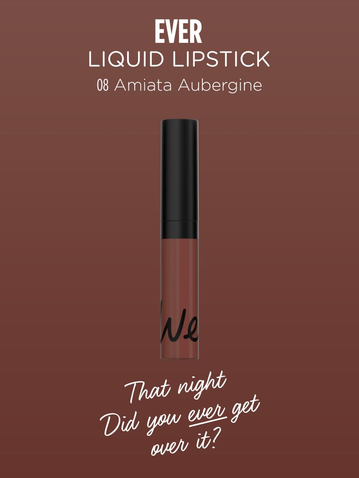 EVER | Liquid Lipstick in Amiata Aubergine. Discover more on http://wemakeup.it/#EVER_liquid_lipstic