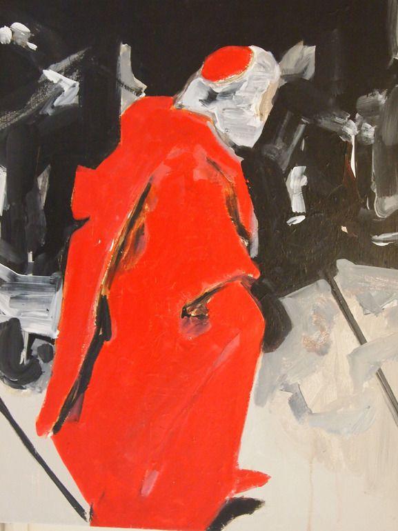 "Saatchi Online Artist: Miguel Laino; Acrylic, 2013, Painting ""cardinal"""
