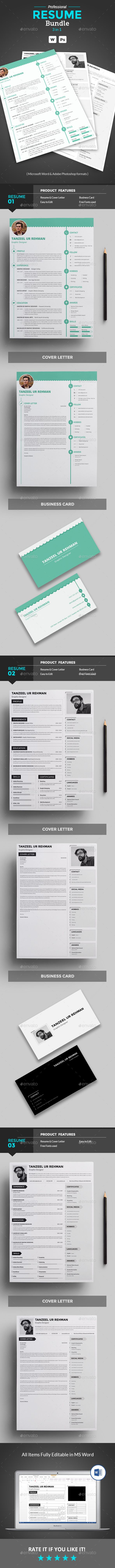 Resume Bundle resume clean resume template u2022