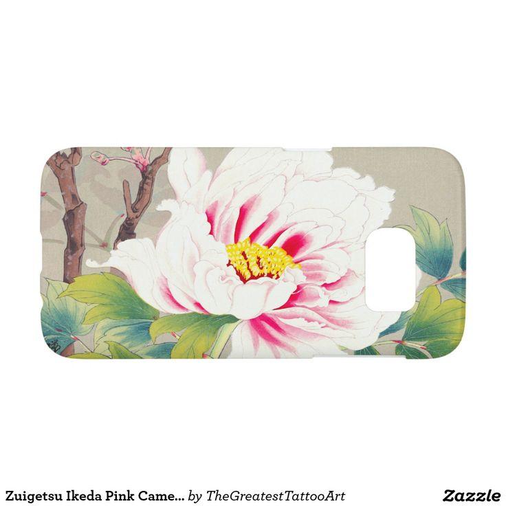 Zuigetsu Ikeda Pink Camellia japanese flower art Samsung Galaxy S7 Case