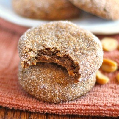 Healthy Chewy Peanut Butter Cookies by Desserts with Benefits