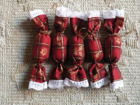 Szaloncukor, Dekoráció, Karácsonyi, adventi apróságok, Karácsonyfadísz, Karácsonyi dekoráció, Patchwork, foltvarrás, Varrás, Meska
