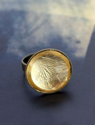 Gold Foil Ring by Cloud Nine Creative  www.cloudninecreative.co.nz