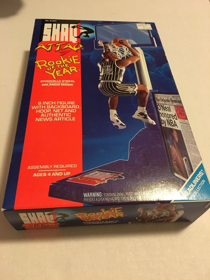 Shaq Attack Rookie Of The Year Action Figure New In Box Orlando Magic Shaquille #Kenner