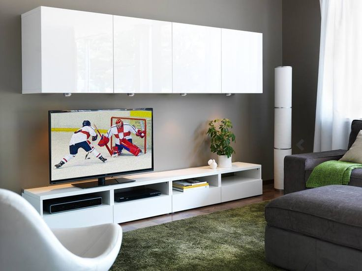 Hide the clutter in a smart IKEA media storage so you can spend time enjoying watching the winter games!