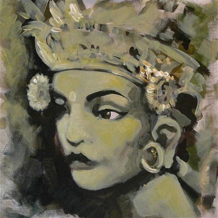 "Saatchi Online Artist: Fakhri Bohang; Acrylic, 2012, Painting ""Balinese Legong Dancer"""
