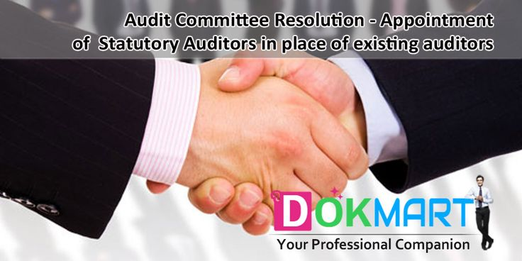 Draft of Audit Committee Resolution along with preamble for appointment of Statutory Auditors in place of existing Auditors