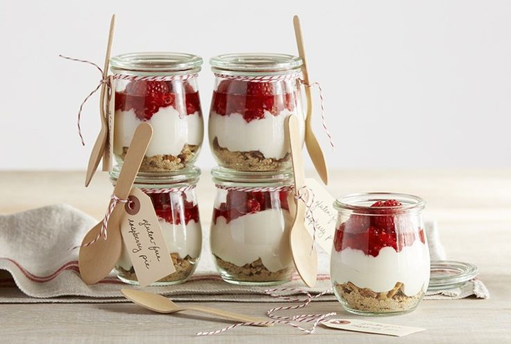 Driscoll's Gluten Free Raspberry Ice Box Pies in a Jar  www.driscolls.com - Have to try these. So cute!