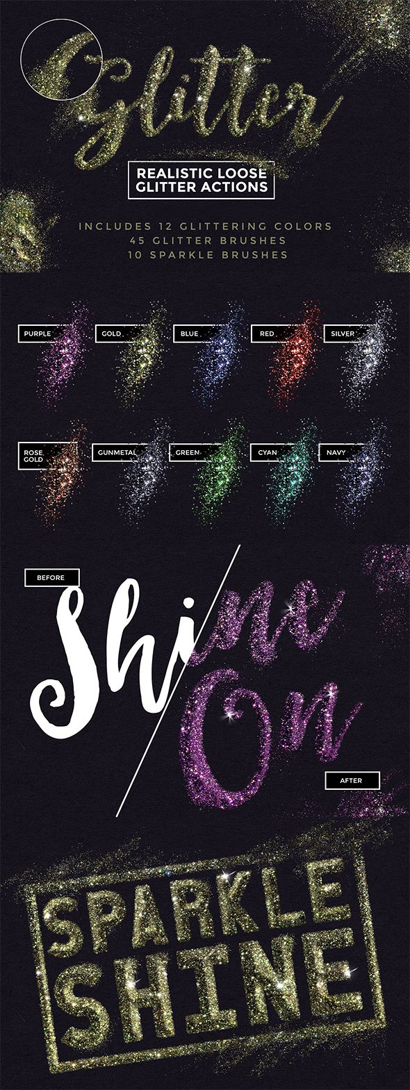 how to give text a glittery effect