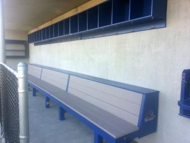 Great 2 Tiered Wood Baseball Bench And Softball Bench