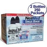 NeilMed Sinus Rinse – 2 Bottles – 250 Premixed Packets – Value Pack Sale Price: $17.30