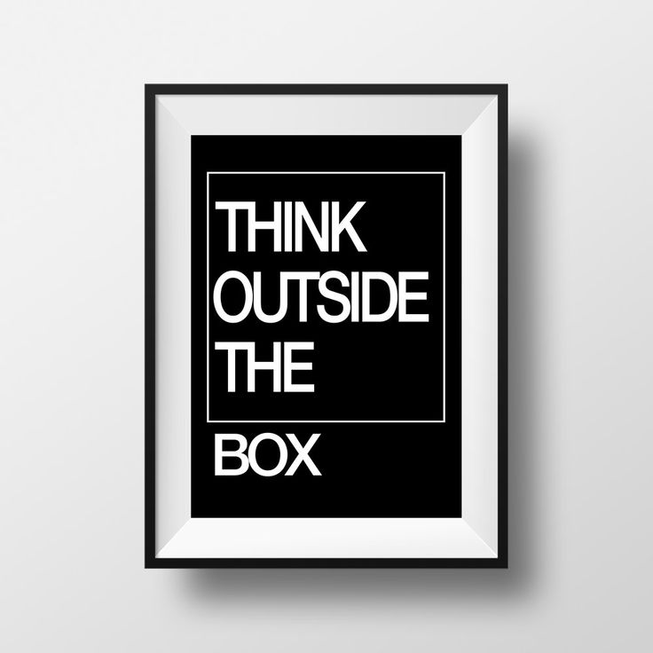 Think outside the Box, Poster, Printable Home Decor, Wall Art, Inspirational Quote, Frasi, Citazioni, That'sAPoster di ThatsAPoster su Etsy