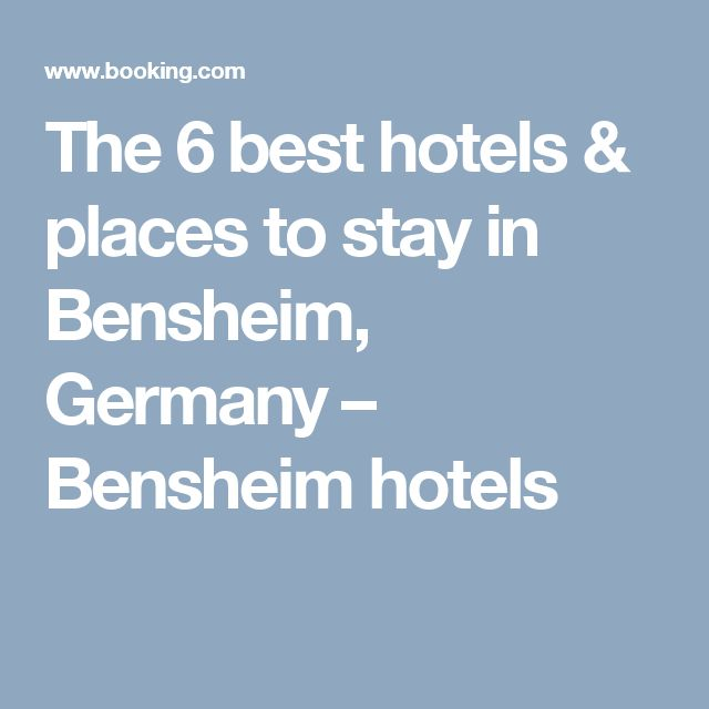 The 6 best hotels & places to stay in Bensheim, Germany – Bensheim hotels