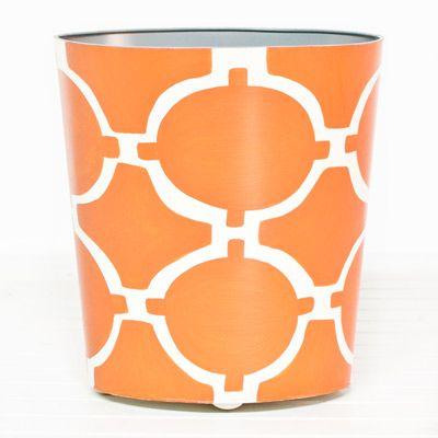 Tangerine For Your Office: Wasting Baskets, Acadia Orange, Cream Oval, Orange Cream, Accessories, World Away, Oval Wastebasket, Hourglass, Acadia Wastebasket