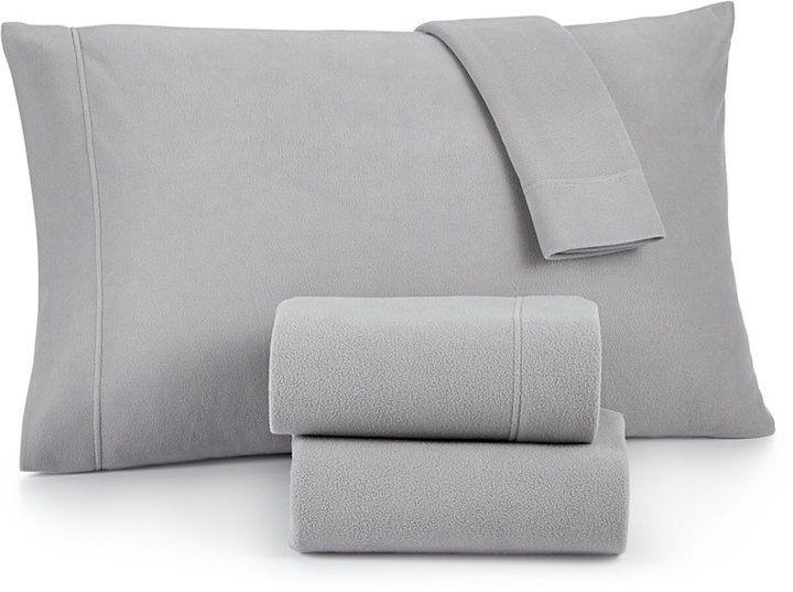 Martha Stewart Collection Fleece Queen Sheet Set, Created for Macy's