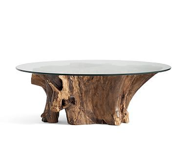 Driftwood Coffee Table #potterybarn
