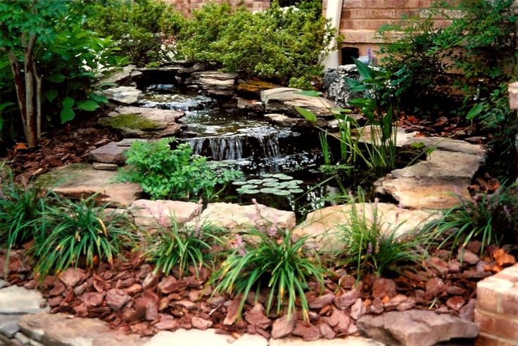 Small pond waterfall ideas small ponds small ponds for Small pond ideas
