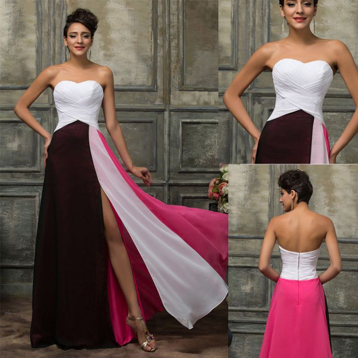 Long Chiffon Bridesmaid Dress Evening Formal Party Prom Cocktail Celeb Ballgown  #GraceKarin #BallGown #Formal