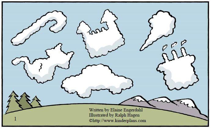 wat zie je in de wolken