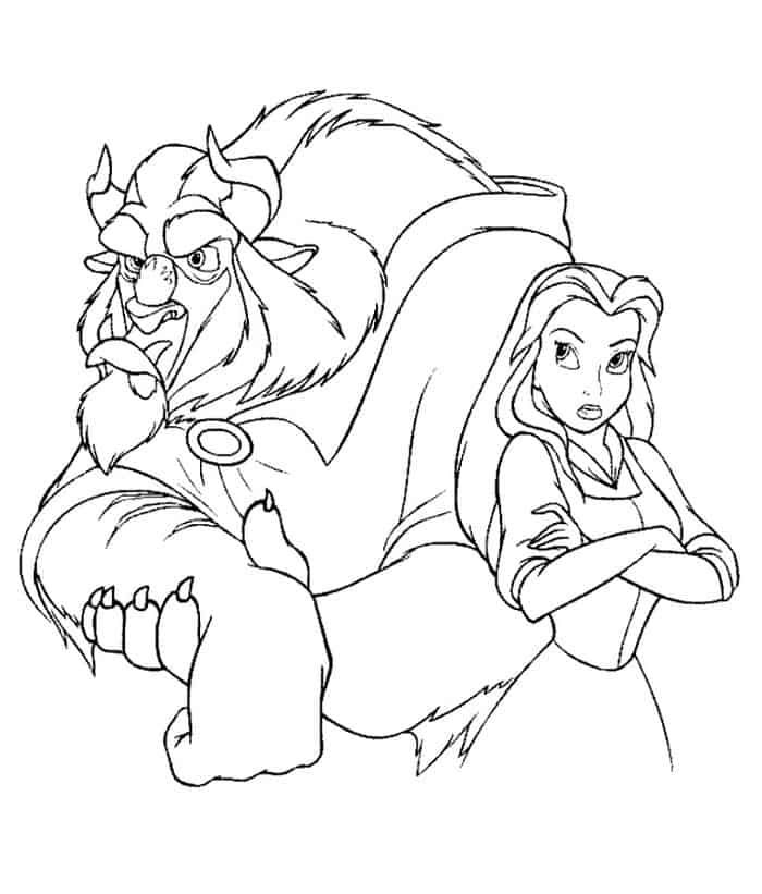Printable Beauty And The Beast Coloring Pages In 2020 With Images