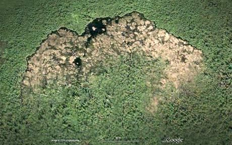This woodland construction is the world's biggest beaver dam, which at 2,790ft is more than twice the length of the Hoover dam and can be seen from space