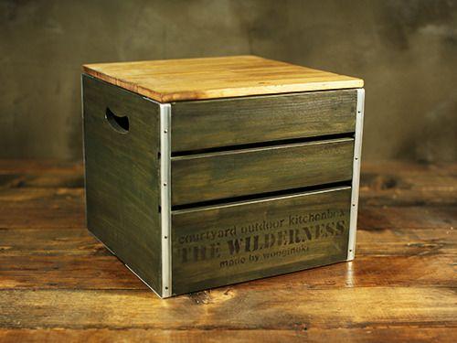 #box #campboxcube #greenbox #woodencubebox #campingbox #wooginoki #wood #handmade #outdoor #woodencampbox