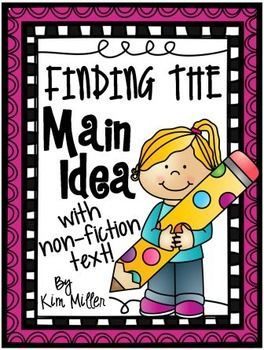 Get 20 different non-fiction passages for students to practice finding the main idea and supporting details!  All answer keys are included!  http://www.teacherspayteachers.com/Store/Kim-Miller-24