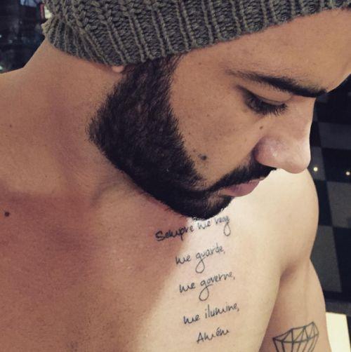 oração tatuada no peito de Gusttavo Lima (foto: reprodução/instagram)