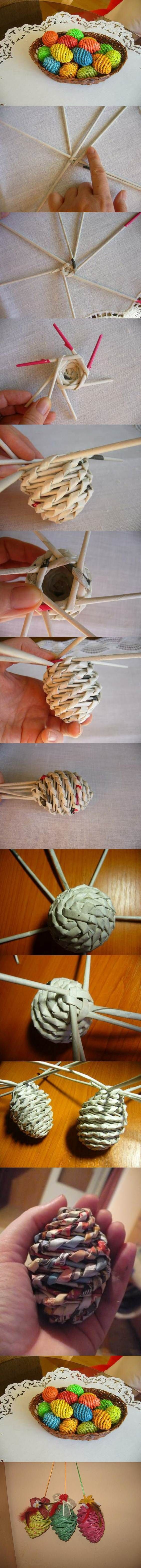 DIY Woven Paper Easter Eggs | How To Make Awesome Woven Easter Eggs. Quick and Fun DIY Easter Egg Design and More Cool Creative Crafts By DIY Ready. http://diyready.com/