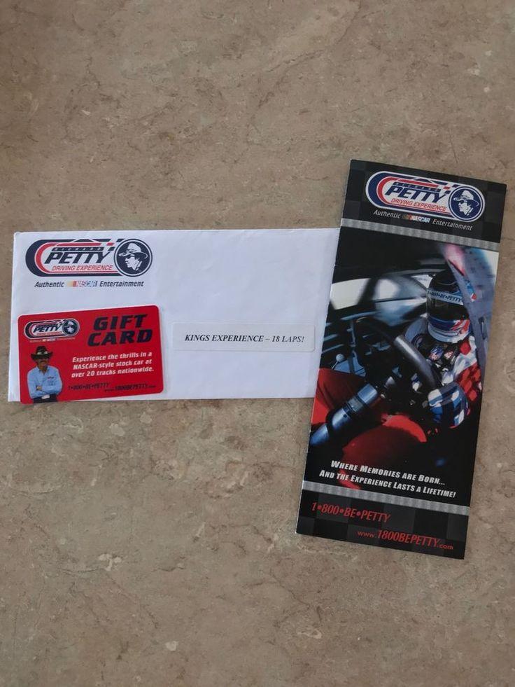 NASCAR RACING EXPERIENCE/RICHARD PETTY EXPERIENCE GIFT CARD...$927.00 #Nascar #RichardPettyMotorsportsMandretti