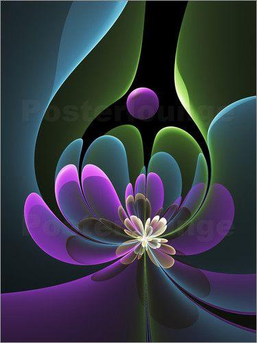 gabiw Art - Fraktal Abstrakte Blume