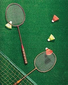 Badminton is an easy way to get guests moving and fire up their appetite for a barbecue.
