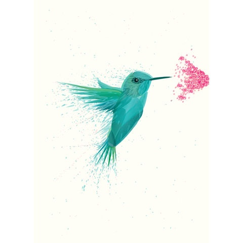 Exclusive 'Hummingbird' Art Print (only available until the 7th Jan 2013) - by Ben The Illustrator  #hummingbird #art #print #bentheillustrator