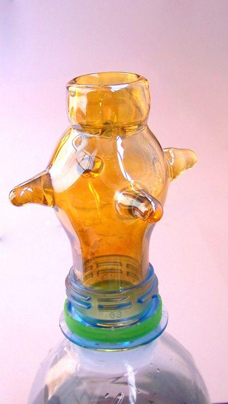 Колпак для курения из стекла эксклюзивный. Отлично подходит на горлышко пластиковой бутылки