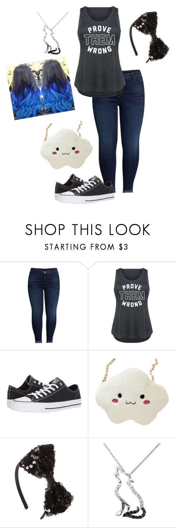 """""""Role-Play outfit (1): Kristen"""" by smilelykristenjoy on Polyvore featuring KUT from the Kloth, Converse, Malin + Mila and plus size clothing"""